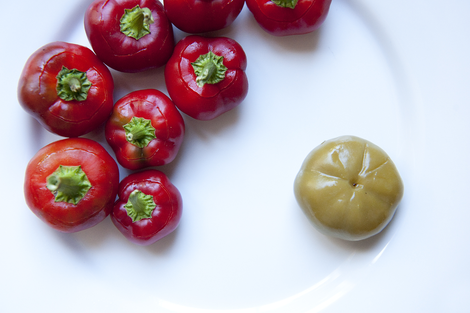 Plate of Cherry Peppers