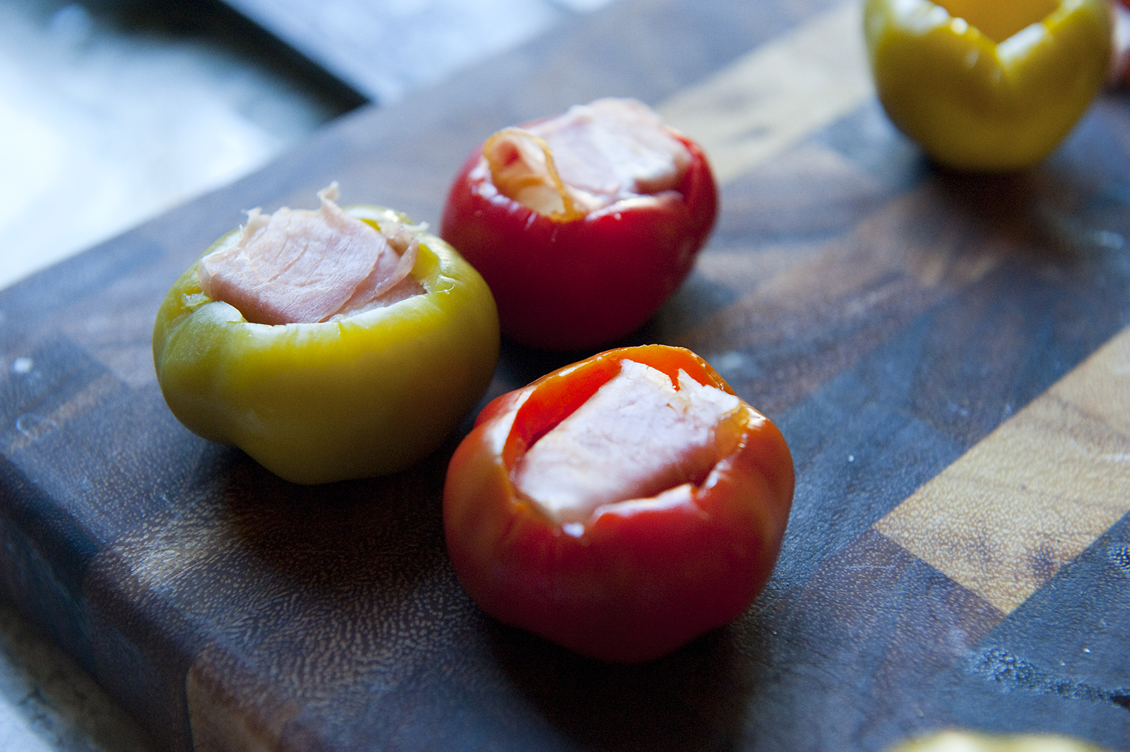 Provolone and Prosciutto Stuffed Cherry Peppers